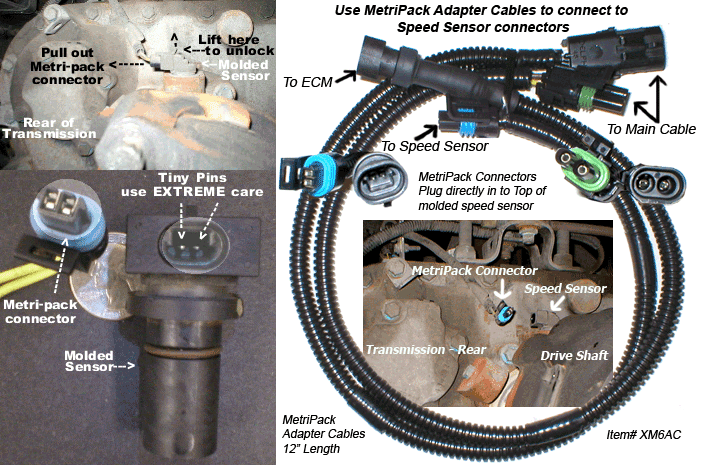 big rig speed sensor location fastertruck com metri pack connectors included installation kit