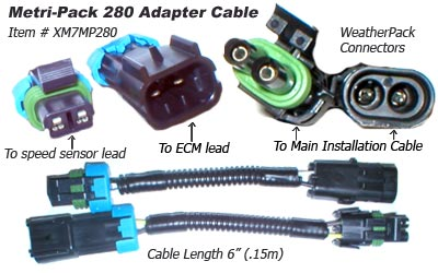 SafetyPass Pro XM7MP280 Metripack 280 Adapter Cables - Mack Trucks - Alternate connector for Kenworth