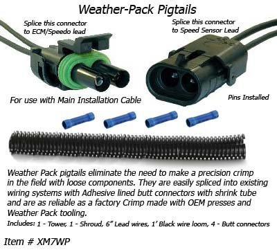 SafetyPass Pro XM7WP Weather-Pack Pigtails - For Splicing