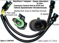 SafetyPass Pro XM7MY MetriPack Y Adapter Cable For Trucks With 2 Speed Sensors. Mostly Found On 2002 - 2008 Trucks.